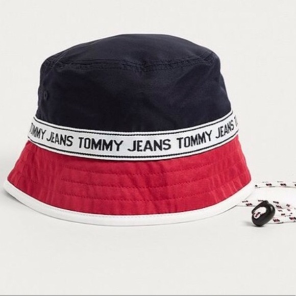 c240b6040209ab Tommy Hilfiger Accessories | Brand New Tommy Jeans Logo Bucket Hat ...